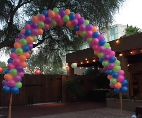 Neon Outdoor Arch