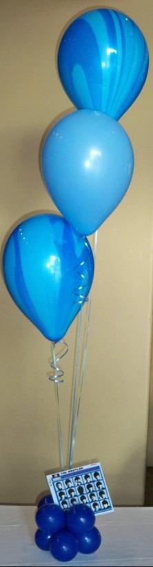Blue Swirl Center Pieces