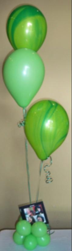 Green Swirl Center Pieces