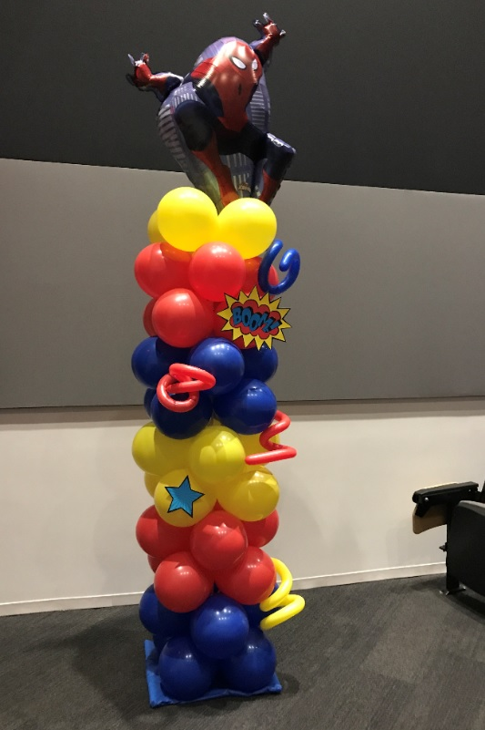 Superhero themed reception at Comcast Tucson